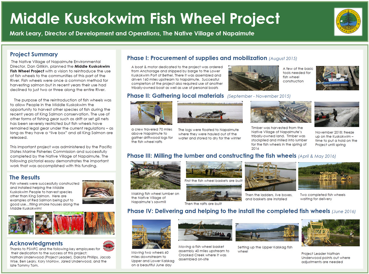 Middle Kuskokwim Fish Wheel Project