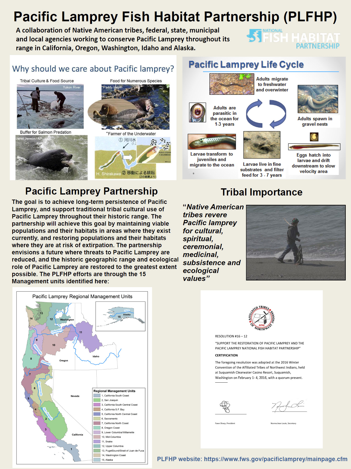 Pacific Lamprey Fish Habitat Partnership (1 of 2)