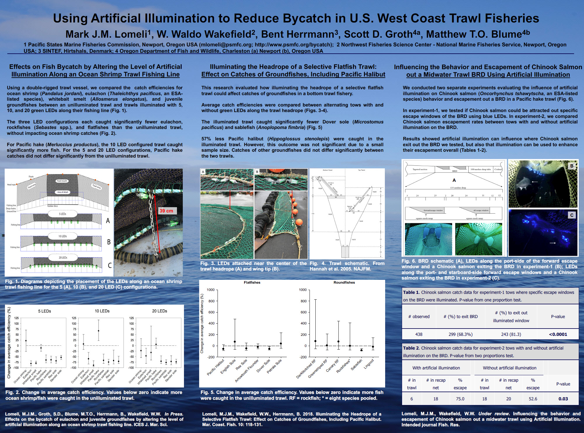 Using Artificial Illumination to Reduce Bycatch in the U.S. West Coast Trawl Fisheries