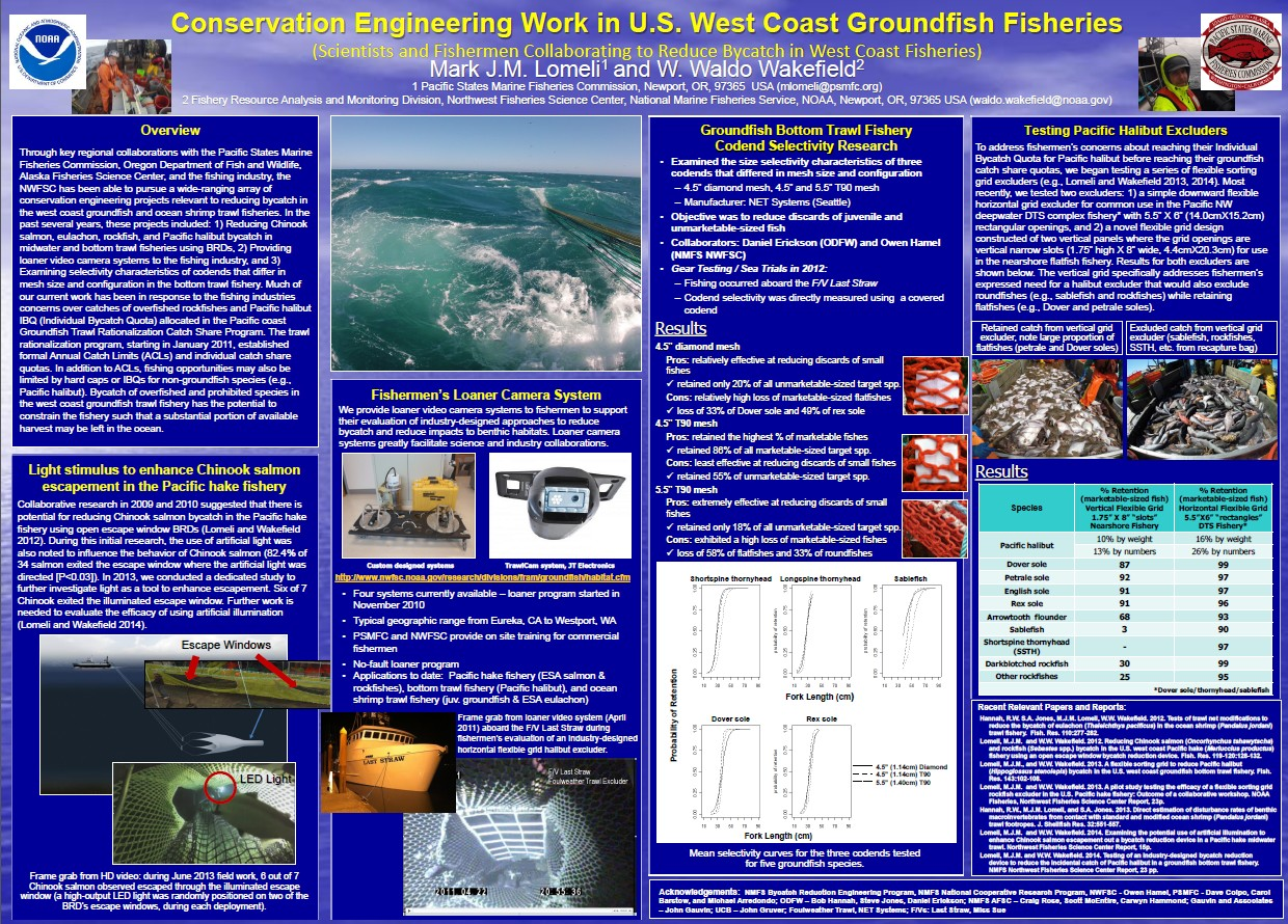 Conservation Engineering Work in the U.S. West Coast Groundfish Fisheries